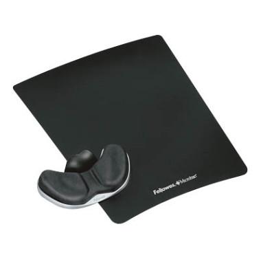Mauspad Health-V mit Handgelenkauflage schwarz Stoff