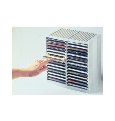 CD Box Tower Spring 98230 für 48 CDs grau 264 x 165 x 257 mm