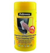 Reinigungstücher feucht für Bildschirme Spenderdose 100 Tücher