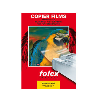 Kopierfolie XAF A4 klar selbstklebend 0,05mm 100 Blatt