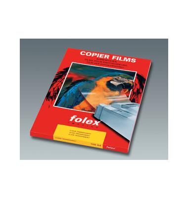 Kopierfolie BG-64 2964.0.441, A4, für S/W-Laserdrucker, S/W-Kopierer, 0,1mm, Overhead-Folie, transparent klar, 50 Blatt