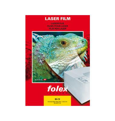 Kopierfolie BG-72 2972012544100, A4, für S/W-Laserdrucker, Farb-Laserdrucker, S/W-Kopierer, Farb-Kopierer, 0,125mm, Overhead-Fo