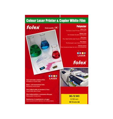 Kopierfolie BG-72WO 29729.125.44100, A4, für S/W-Laserdrucker, Farb-Laserdrucker, S/W-Kopierer, Farb-Kopierer, 0,125mm, weiß g