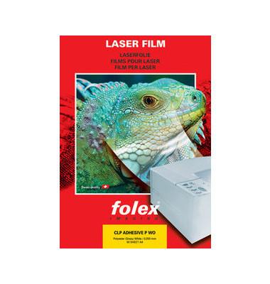 Laserfolie CLP ADHESIVE P WO A4 weiß selbstklebend 0,05mm 50 Blatt