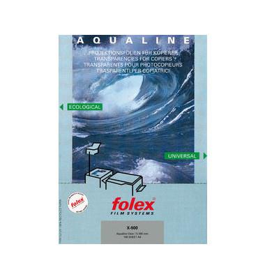 Kopierfolie X-500 AQUALINE A4 klar 0,1mm 100 Blatt