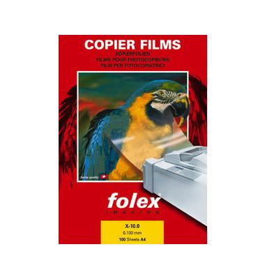 Kopierfolie X-10.0 39100.100.44000, A4, für Kopierer, 0,1mm, Overhead-Folie, transparent klar, 100 Blatt