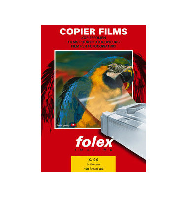 Kopierfolie X-10.0 A4 klar 0,1mm 100 Blatt