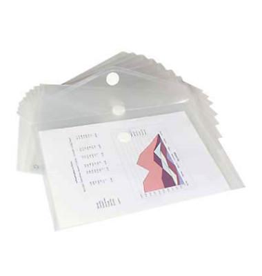 Dokumententasche 40101 A4 farblos/transparent 10 Stück