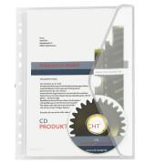 Dokumententasche 40106 A4 farblos/transparent mit Abheftvorrichtung 10 Stück