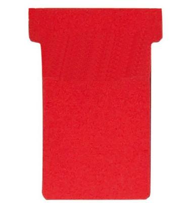 T-Karten Größe 1 rot 17x47mm 100 St