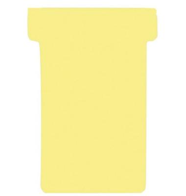 T-Karten Größe 1 gelb 17x47mm 100 St