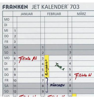 Datumsstreifen 1-31 selbstklebend für JETKALENDER JK703