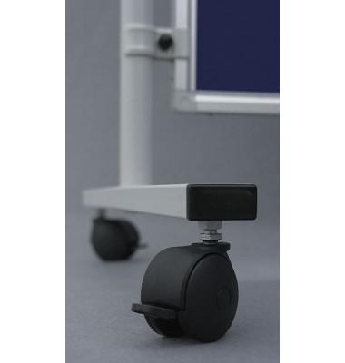 Rollenset für Stellwandsysteme X-tra! Line schwarz 2 Stück