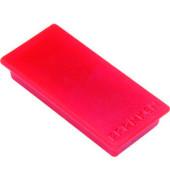 Magnete bis 1,0kg rechteckig rot 10 Stück