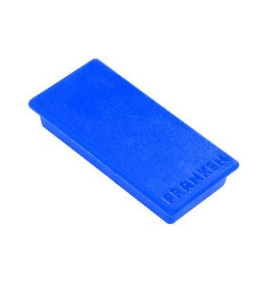 Magnete bis 1,0kg rechteckig blau 10 Stück