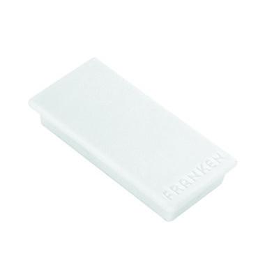Magnete bis 1,0kg rechteckig weiß 10 Stück