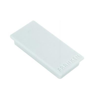 Magnete bis 1,0kg rechteckig grau 10 Stück