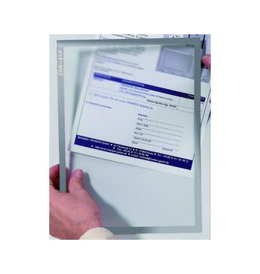 Dokumentenhalter selbstklebend grau A4 32my
