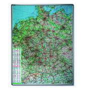 Straßenkarte Deutschland 1:750000 98x138cm magnetisch