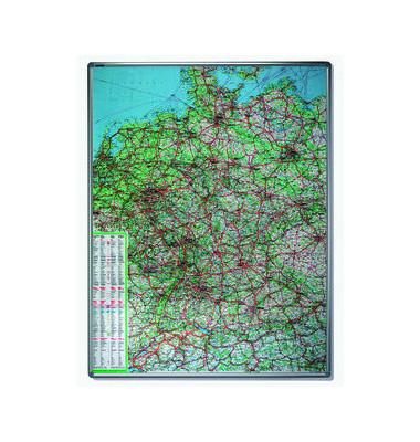 Kartentafel Straßen Deutschl. 1:750000 140x100cm pinnbar