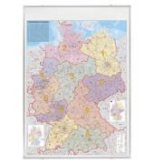 Postleitzahlenkarte Deutschland 1:750000 98x138cm pinnbar