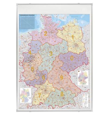 Kartentafel Deutschland pinnbar 140x100cm mit PLZ