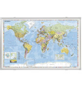 Weltkarte Pinnwand 140 x 100cm