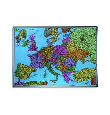 Kartentafel Europa pinnbar 100x140cm