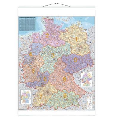 Postleitzahlenkarte Deutschland 1:750000 97x137cm