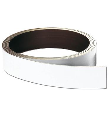 Magnetschild 30mm x 10m Rolle x 0,8mm weiß