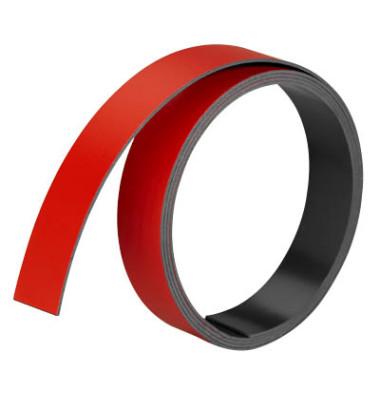 Magnetbänder 1m x 15mm x 1mm rot