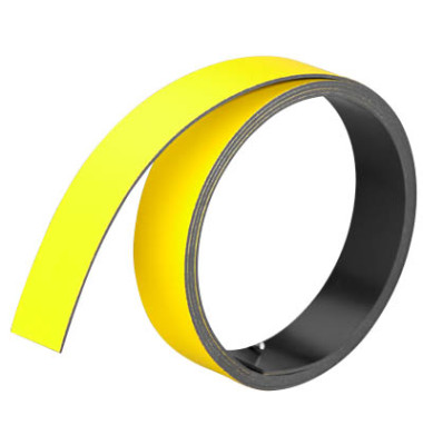 Magnetbänder 1m x 15mm x 1mm gelb