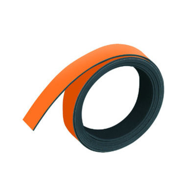 Magnetband, 15 mm x 1 m, orange