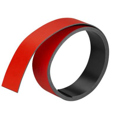 Magnetstreifen 1000 x 20mm rot
