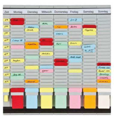 Steckkartentafel OfficePlaner 7 Bahnen 20 Felder PV1020