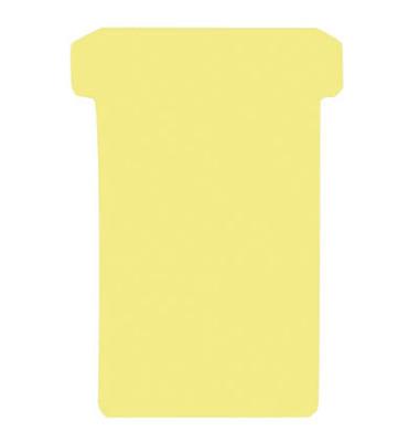 T-Karten TK2 Größe 2 gelb 48x84mm 170g blanko 100 Stück