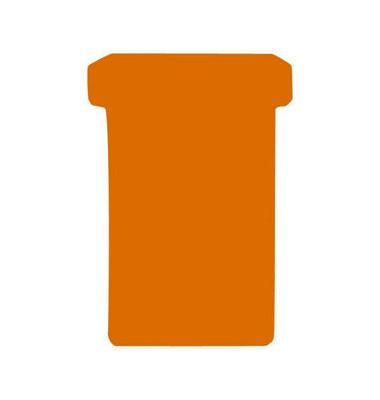 T-Karten TK2 Größe 2 orange 48x84mm 170g blanko 100 Stück