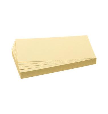 Moderationskarten Rechteck 20,5x9,5cm gelb 500 Stück