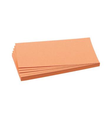 Moderationskarten Rechteck 20,5x9,5cm orange 500 Stück