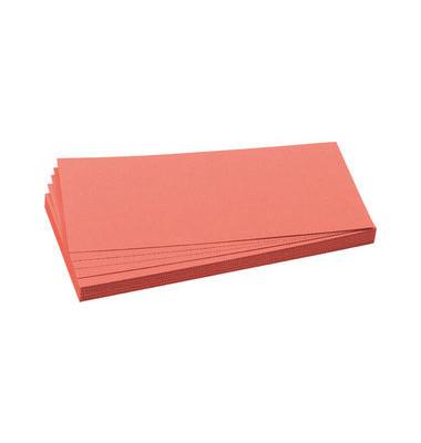 Moderationskarten Rechteck rot 9,5x20,5cm 500 St