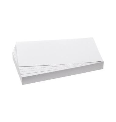 Moderationskarten Rechteck weiß 9,5x20,5cm 500 St