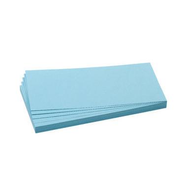 Moderationskarten Rechteck 20,5x9,5cm hellblau 500 Stück