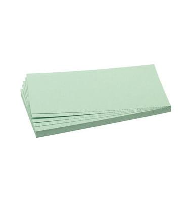 Moderationskarten Rechteck 20,5x9,5cm hellgrün 500 Stück