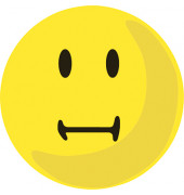 Wertungssymbole Smilie neutral gelb D: 10 cm 100 St