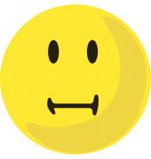 Moderationskarte Bewertungssymbole neutral gelb Ø 10cm 100 Stück