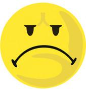Wertungssymbole Smilie negativ gelb D: 10 cm 100 St