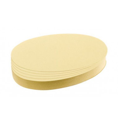 Moderationskarten Ovale 11x19cm gelb 500 Stück
