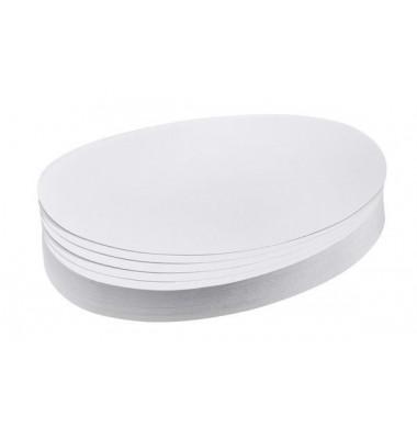 Moderationskarten Ovale 11x19cm weiß 500 Stück