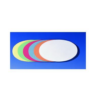 Moderationskarten Ovale 11x19cm farbig sortiert 500 Stück