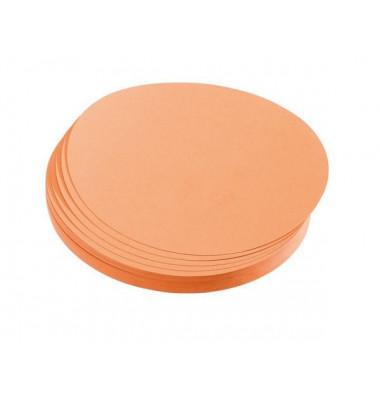 Moderationskarten Kreise Ø 14cm orange 500 Stück